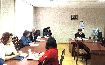 Л. Козлова посетила муниципальное образование «Сафоновский район»