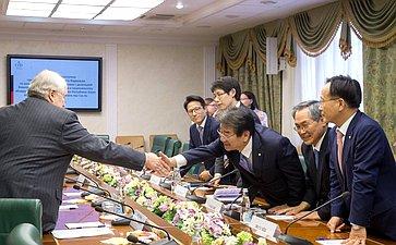 Встреча С. Кисляка сделегацией Комитета помеждународным делам инациональному объединению Национальной Ассамблеи Республики Корея воглаве спредседателем Комитета Кан Сок Хо