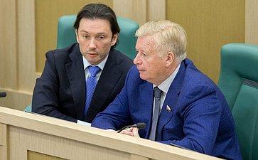 М. Кавджарадзе иЛ. Тягачев 389-е заседание Совета федерации
