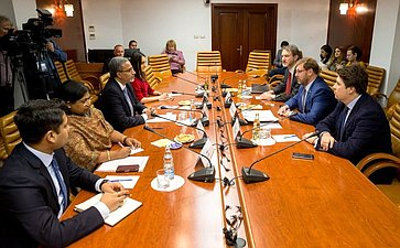 Встреча К. Косачева c Чрезвычайным иПолномочным Послом Индии вРоссии Д. Бала Венкатеш Варма