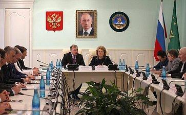 В. Матвиенко провела вАдыгее рабочее совещание сучастием руководителей федеральных, территориальных иреспубликанских органов государственной власти региона