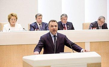 Артур Муравьев на 358 заседании Совета Федерации