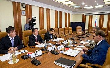 Встреча К.Косачева сЧрезвычайным иПолномочным Послом Японии вРФ Таёхиса Кодзуки