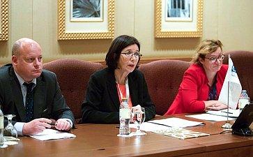 Председатель Совета Федерации Валентина Матвиенко провела встречу сПредседателем Парламентской Ассамблеи ОБСЕ (ПА ОБСЕ) Кристин Муттонен