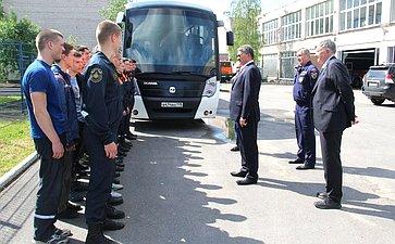 Заместитель Председателя СФ Ю. Воробьев посетил пожарно-спасательный колледж «Санкт-Петербургский центр подготовки спасателей»