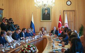 Встреча Председателя Совета Федерации В.Матвиенко сПредседателем Великого Национального Собрания Турции М.Шентопом