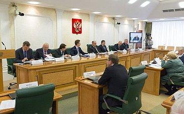 Совместное совещание Комитетов Совета Федерации, посвященное подготовке «правительственного часа» оперспективах развития сети автомобильных дорог