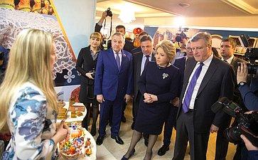 В. Матвиенко наоткрытии выставки достижений Кировской области вСовете Федерации