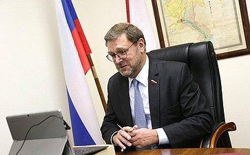 К.Косачев провел встречу сЧрезвычайным иПолномочным Послом Финляндии вРФ А.Хелантерей