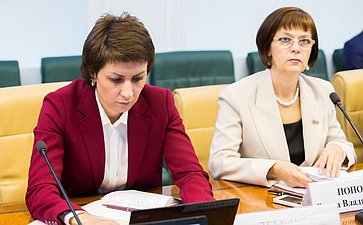 Заседание Комитета Совета Федерации посоциальной политике