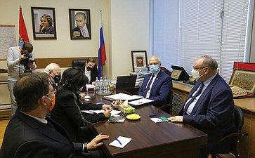 Встреча Фарита Мухаметшина сВысоким представителем Генерального секретаря ООН поАльянсу цивилизаций Мигелем Моратиносом