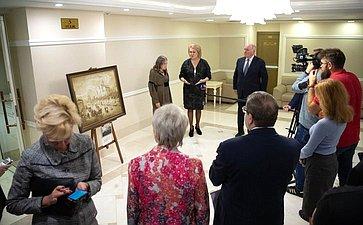 Открытие выставки художника ифотографа Н.Сазоновой «Москва сквозь века» вСовете Федерации