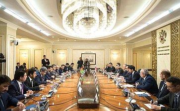 Встреча Николая Федорова сПредседателем Нижней палаты Национальной Ассамблеи Исламской Республики Афганистан Миром Рахманом Рахмани