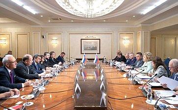 Встреча В. Матвиенко сПредседателем Национального совета Словацкой Республики Андреем Данко