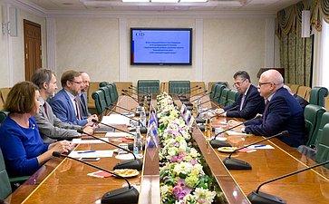 Встреча К. Косачева спредставителями Фонда Карнеги, участниками проекта «Взаимодействие России, Китая, США именяющийся мировой порядок»
