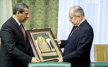 ВСФ состоялась встреча И.Умаханова спослом Саудовской Аравии вРФ А.И.Али Аль-Расси