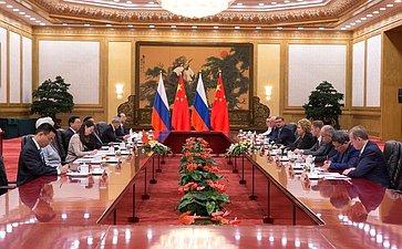 Встреча Председателя СФ сПредседателем Постоянного комитета Всекитайского собрания народных представителей
