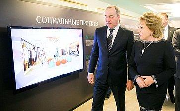 Зкспозиция вСовете Федерации, посвященная достижениям иперспективам развития Карачаево-Черкесской Республики