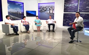 Александр Башкин принял участие впрограмме одного изтелеканалов г. Астрахани