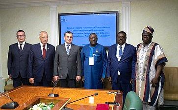 Встреча Н.Федорова сПредседателем Национального Собрания Республики Бенин