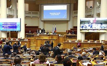 В. Матвиенко выступила напервом заседании Ассамблеи МПС вСанкт-Петербурге натему «Продвигая культурный плюрализм имир через межкультурный имежэтнический диалог»