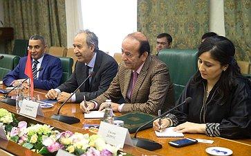 Встреча Н. Федорова сзаместителем Председателя Палаты советников Королевства Марокко Абделькадером Саламой