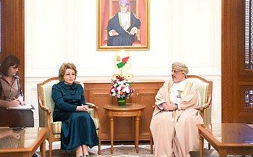 Встреча В. Матвиенко сПредседателем Госсовета Омана