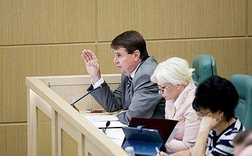 376-е заседание Совета Федерации. Цеков