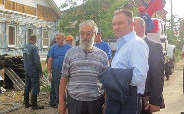 Е. Атанов иА. Чилингаров оценили последствия урагана вг. Ефремов Тульской области