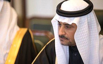 Встреча В.Матвиенко сзаместителем Председателя Консультативного совета Королевства Саудовская Аравия Яхъей Абдуллой Ас-Самааном