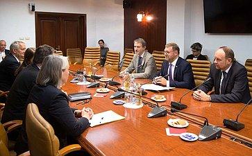Встреча К. Косачева сЧрезвычайным иПолномочным Послом ФРГ вРоссии Гезой Андреасом фон Гейром