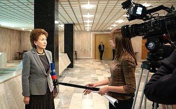 Брифинг Галины Кареловой