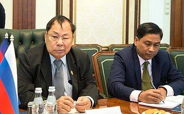 Встреча членов группы посотрудничеству Совета Федерации сСенатом Королевства Камбоджа собъединенной парламентской делегацией Королевства Камбоджа