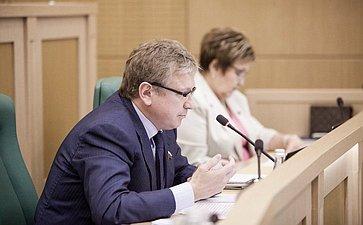 Юрий Шамков на 358 заседании Совета Федерации