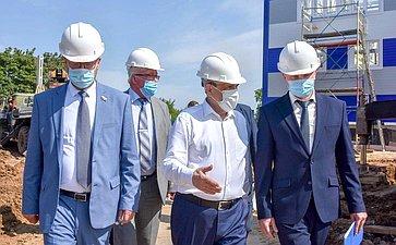 Константин Косачев иАлександр Евстифеев осмотрели инфраструктурные объекты вг. Козьмодемьянске