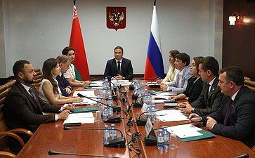Совместное заседание руководящих органов Палаты молодых законодателей при СФ иМолодежного совета (парламента) при Национальном собрании Республики Беларусь