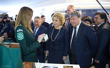 В. Матвиенко наоткрытии выставки Якутии вСовете Федерации