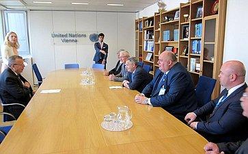 Встреча сзаместителем Генсека ООН, исполнительным директором Управления ООН понаркотикам ипреступности Юрием Федотовым