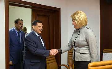 Встреча Л.Гумеровой сЧрезвычайным иПолномочным Послом Республики Ирак вРФ Абдулрахманом Хамидом Мохаммедом Аль-Хуссайни