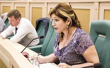 Жанна Иванова на 358 заседании Совета Федерации
