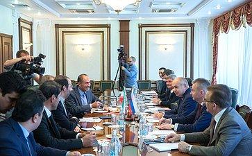 Встреча спервым заместителем Председателя Собрания исламского совета Исламской Республики Иран Масудом Пезешкианом