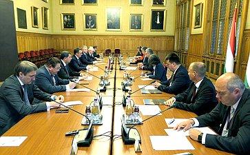 Встреча делегации Совета Федерации сПредседателем Государственного Собрания Венгрии Ласло Кёвером