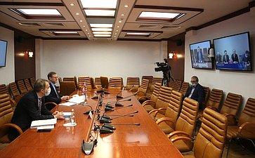 Встреча Константина Косачева сЧрезвычайным иПолномочным Послом КНДР вРФ Син Хон Чхолем