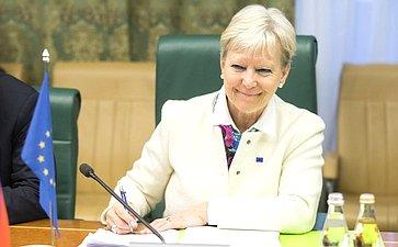 Встреча А. Акимова сПослом поособым поручениям Европейского союза поАрктике Мари-Энн Конинскс