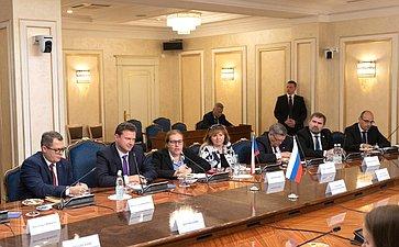 Встреча В. Матвиенко сПредседателем Палаты депутатов Парламента Чешской Республики Радеком Вондрачеком
