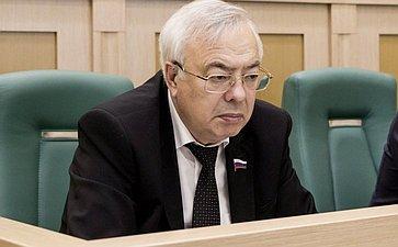 Владимир Бочков на 358 заседании Совета Федерации