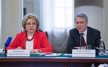 В. Матвиенко выступила напервом заседании Совета попроблемам профилактики наркомании