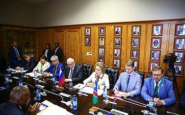 Официальный визит делегации Совета Федерации воглаве сПредседателем СФ вРеспублику Намибию