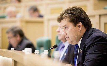 Николай Журавлев на 358 заседании Совета Федерации