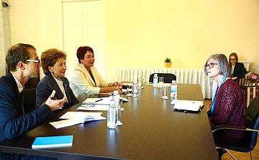 Встреча Г. Кареловой сзаместителем генерального директора Международной организации труда (МОТ) Деборой Гринфилд